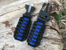 16 mm to 28 mm Black Royal Blue Lines Watch Band