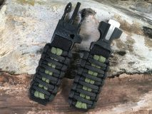 16 mm to 28 mm Black Army Green Lines Watch Band