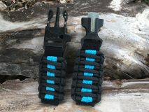 16 mm to 28 mm Black Ocean Blue Lines Watch Band