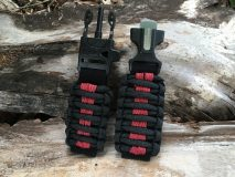 16 mm to 28 mm Black Red Lines Watch Band