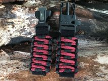 16 mm to 28 mm Two Tone Black Red Black Lines Watch Band