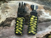 16 mm to 28 mm Two Black Yellow Camouflage Watch Band