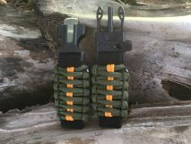 16 mm to 28 mm Army Green Orange Lines Watch Band