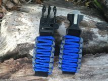 16 mm to 28 mm Two Tone Gray Royal Blue Watch Band