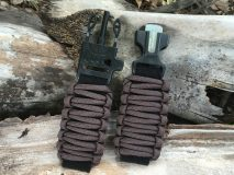 16 mm to 28 mm Brown Survival Watch Band
