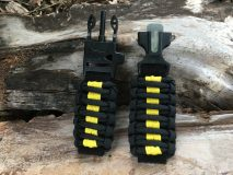 16 mm to 28 mm Black Yellow Lines Watch Band