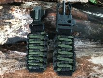 16 mm to 28 mm Two Tone Solid Black and Army Green Black Lines Survival Watch Band