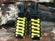 16 mm to 28 mm Two Tone Black Yellow Black Lines Watch Band