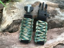 16 mm to 28 mm Grass Green Camouflage  Survival Watch Band