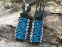 16 mm to 28 mm Two Tone Ocean Blue Snake Gray Watch Band