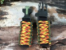 16 mm to 28 mm Two Army Green Yellow Orange Camouflage Watch Band