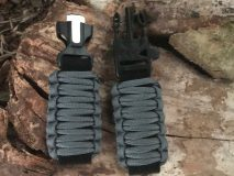 16 mm to 28 mm Solid Dark Gray Survival Watch Band